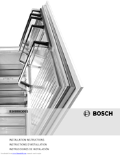 Bosch B30BB830SS Installation Instructions Manual