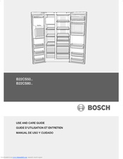 bosch b22cs50sns fridge freezer8 manuals rh manualslib com bosch refrigerator manual b22cs50sns Bosch Refrigerator Parts