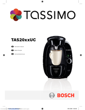 Bosch TAS2001UC8 Instruction Manual
