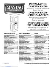 maytag mlg20pdaww manuals rh manualslib com maytag user manual washing machine maytag dryer installation manual
