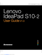 lenovo ideapad s10 2 user manual pdf download rh manualslib com lenovo ideapad s10-3 manual lenovo ideapad s10-3t manual pdf