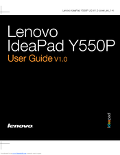 Lenovo IdeaPad Y550P User Manual