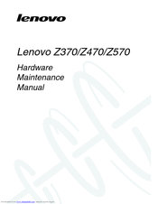 LENOVO IDEAPAD Z370 HARDWARE MAINTENANCE MANUAL Pdf Download