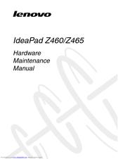 LENOVO IDEAPAD Z460 HARDWARE MAINTENANCE MANUAL Pdf Download