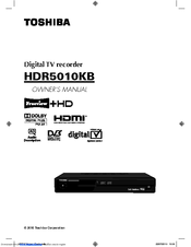 toshiba hdr5010 manual