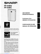 Sharp Plasmacluster FP-A40C Operation Manual