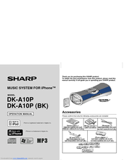 Sharp DK-A10P Operation Manual