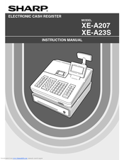 sharp xe a23s instruction manual pdf download rh manualslib com Programming Sharp Cash Register Sharp Electronic Cash Register