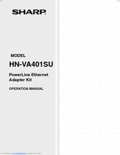 Sharp HN-VA401SU Operation Manual