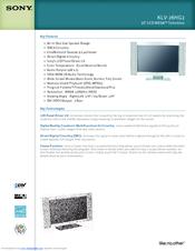sony bravia klv 32s200a manual