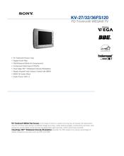Sony KV-32FS120 - FD Trinitron WEGA Flat-Screen CRT TV Brochure