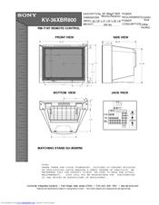 """Sony kv-36fs10 36"""" trinitron wega manuals."""