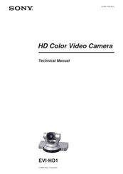 Sony EVI-HD1 Technical Manual