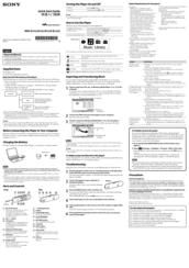 Walkman Nwz-b152f Инструкция - фото 7