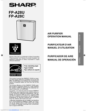 Sharp Plasmacluster FP-A28C Operation Manual