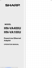 Sharp HN-VA400U Operation Manual