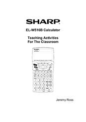 sharp el w516b scientific calculator with writeview manuals rh manualslib com sharp scientific calculator el-501x manual sharp scientific calculator manual el-w531xh