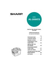 sharp al 2050cs digital multifunctional system operation manuals rh manualslib com manual de copiadora sharp al-2050cs en español manual fotocopiadora sharp al 2050cs en español