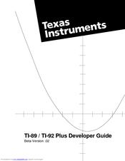 Texas Instruments Ti 92 Plus Graphing Calculator Manuals