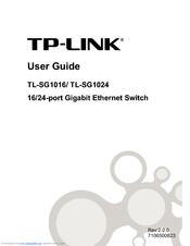 TP LINK TL-SG1016 USER MANUAL Pdf Download