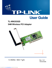 TP Link TL-WN353GD User Manual