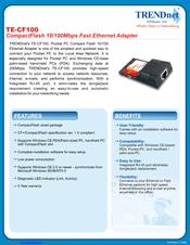 TRENDnet TE-CF100 Network Adapter Drivers for Mac Download