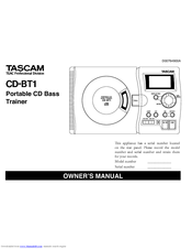 Tascam CD-BT1 mkII Owner's Manual