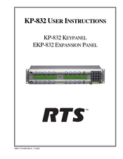 rts kp 832 20 manuals rh manualslib com User Training User Training
