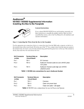 Telex SS-1002 Supplementary Manual