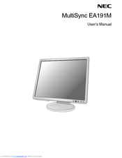 NEC MultiSync EA191M User Manual