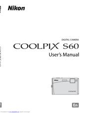 nikon coolpix s60 user manual pdf download rh manualslib com nikon d60 user manual free download nikon d60 dslr user manual