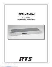 rts uio 256 manuals rh manualslib com User Manual User Manual