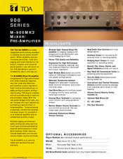 toa 900 series amplifier manual