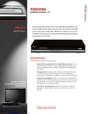 toshiba hd a3 hd dvd player manuals rh manualslib com Toshiba HD DVD Player Toshiba HD Player