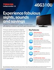 toshiba 46g310u manuals rh manualslib com Toshiba 46 TV Toshiba 65HT2U