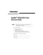 Toshiba A200-ST2041 Resource Manual