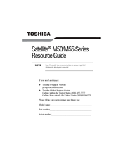 Toshiba M55-S3293 Resource Manual