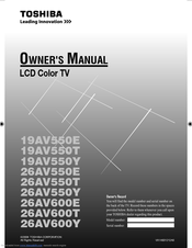 Toshiba 19AV550E Owner's Manual