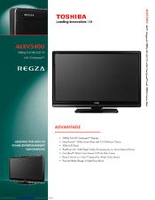 Toshiba 46XV540U Specifications