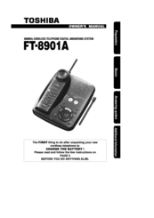 Toshiba FT-8901A Owner's Manual