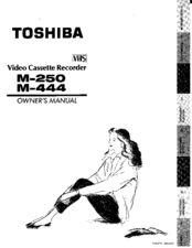 Toshiba M444 Owner's Manual