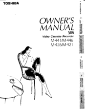 Toshiba M421 Owner's Manual