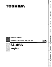 Toshiba M456 Owner's Manual