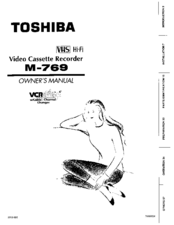 Toshiba M769 Owner's Manual