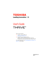 toshiba thrive 10 1 16gb manuals rh manualslib com Toshiba Thrive 16GB Toshiba Laptops
