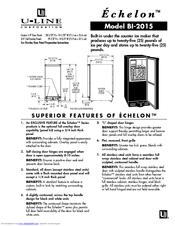 u line echelon bi 2015 manuals rh manualslib com u-line ice maker parts manual u-line ice maker clr2060 manual