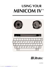 Ultratec Minicom IV Manuals