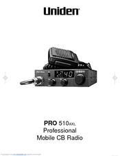 Uniden PRO510AXL User Manual