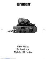 Uniden PRO510AXL User Manual