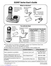 uniden d2997 user manual pdf download rh manualslib com Uniden-DECT 6.0 Loud and Clear Uniden Loud Clear Cordless Phone